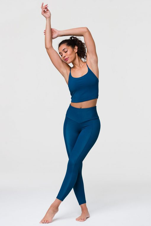 Onzie sweetheart midi yoga leggings empathy rib blue