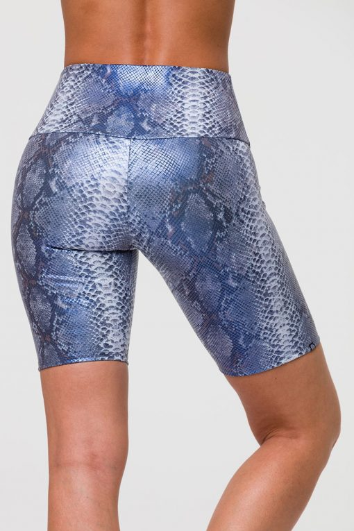 Onzie high rise biker shorts blue mambo