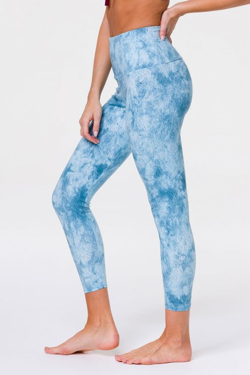 Onzie HIGH RISE Sustainable Soul Midi Yoga Leggings Water