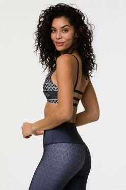 Onzie Graphic Elastic yoga sports Bra Top Las Lunas