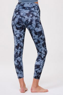 Onzie Yoga Leggings high rise midi moonstone acid wash