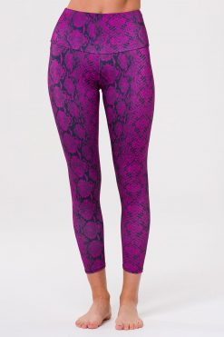 Onzie Yoga Leggings high rise midi ultra violet snake