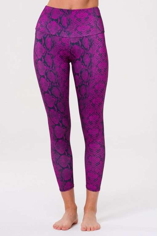 Onzie Yoga Leggings high rise midi ultra violet snake