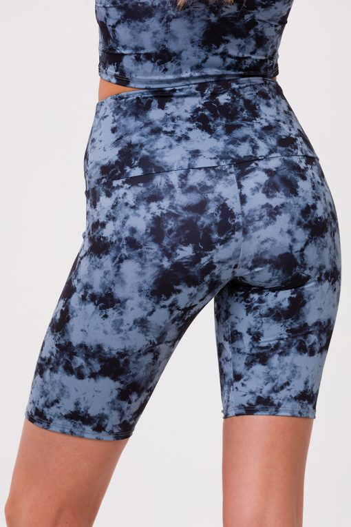 Onzie yoga shorts high rise biker moonstone acid wash