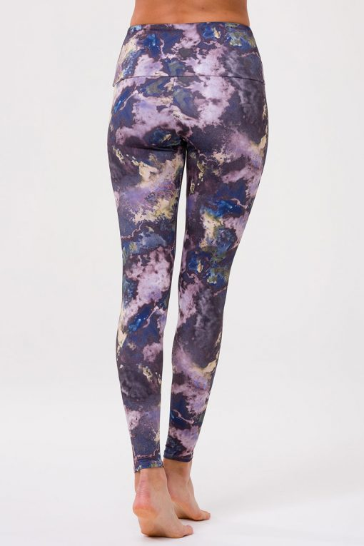Onzie Yoga Leggings high full length purple marble