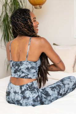 Onzie Cami Belle Crop yoga bra top Moonstone Acid Wash