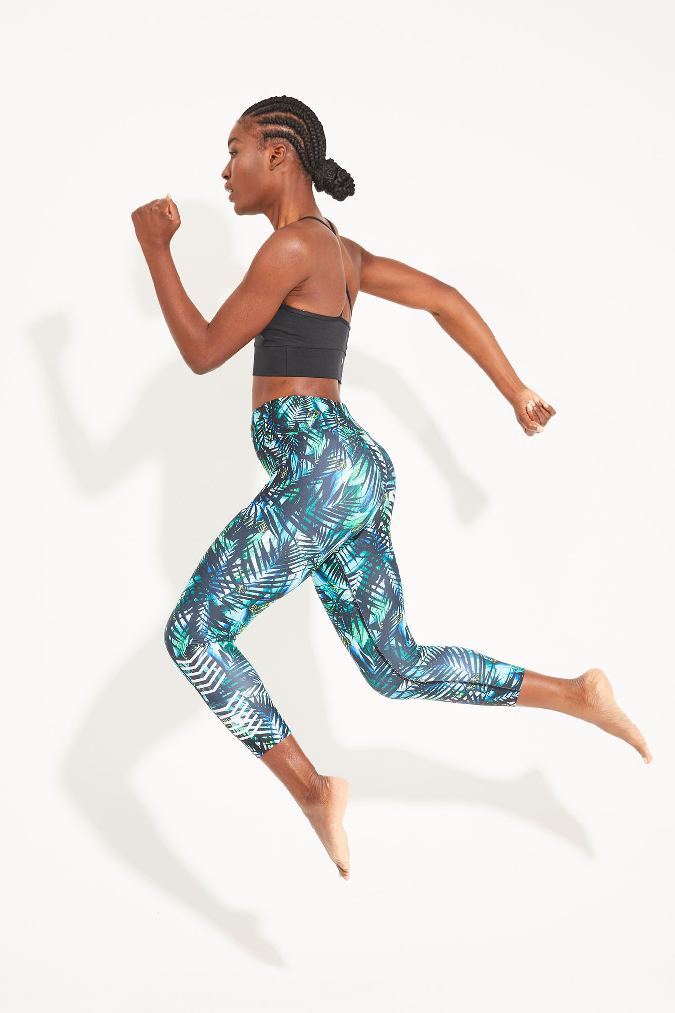 Dharma Bums RECYCLED eco midi Yoga Leggings Luminous
