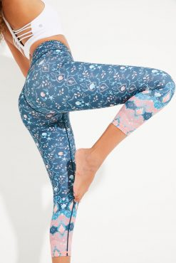 Dharma Bums RECYCLED eco midi Yoga Leggings Sea Star