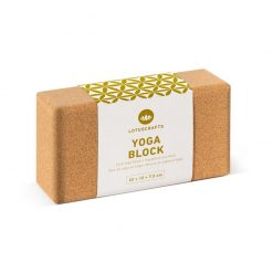 Sustainable cork yoga block brick props