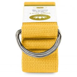 Lotuscrafts Organic yoga strap yellow Saffron