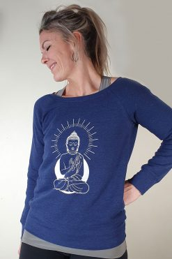 Oceanflow Yoga Wear Jumper Zen State Navy Blue