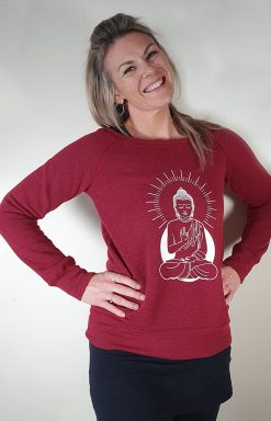 Oceanflow Yoga Wear Jumper Zen State Dark Red