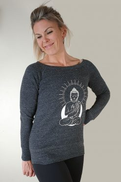 Oceanflow Yoga Wear Jumper Zen State Charcoal Grey