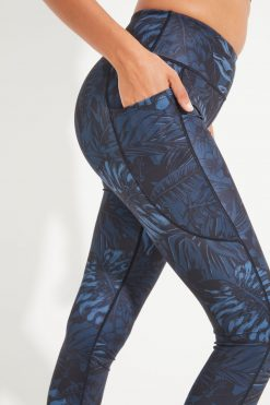 Dharma Bums Bondi Pocket RECYCLED midi eco Yoga Leggings - Oasis