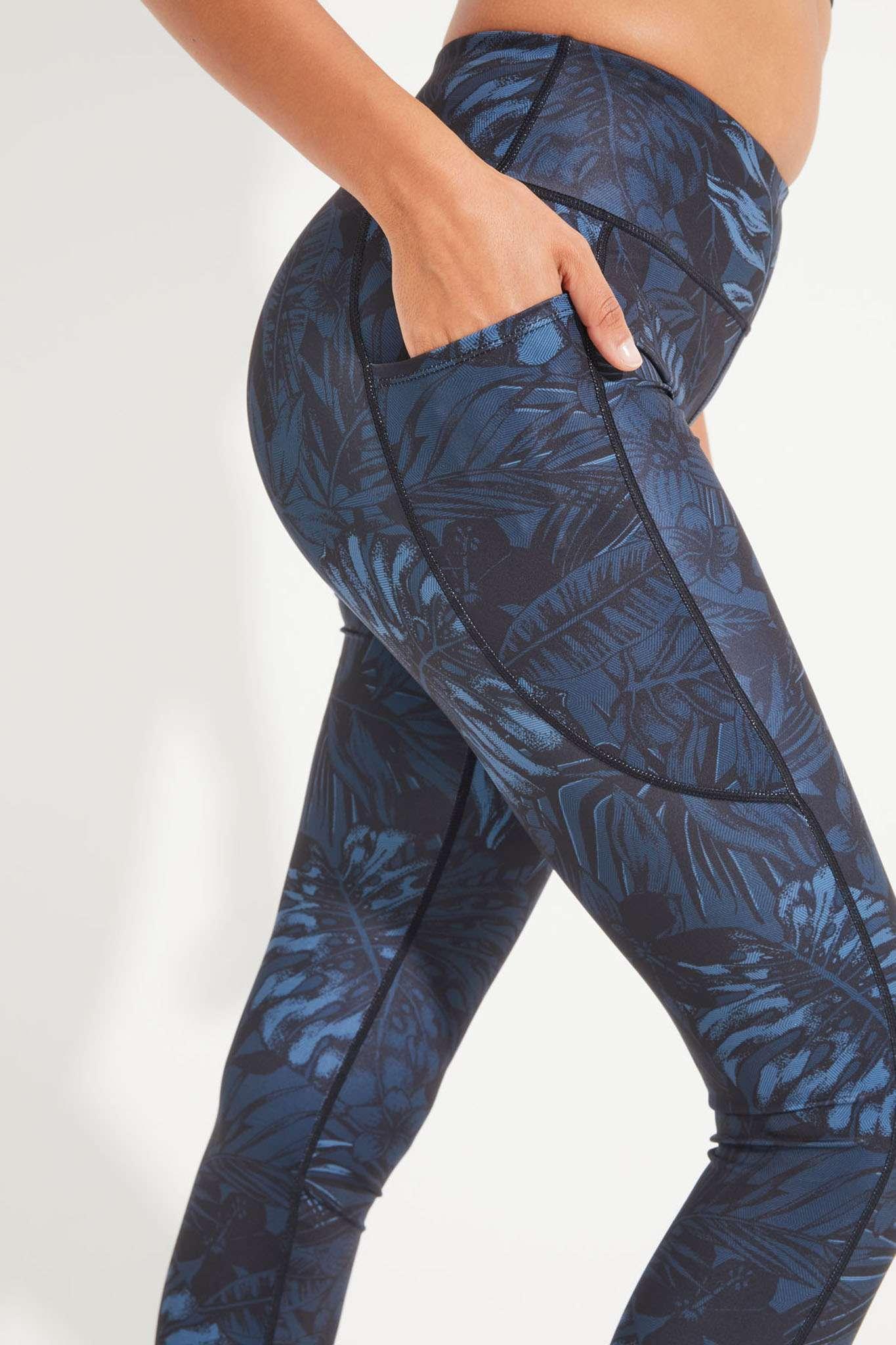 Dharma Bums Bondi Pocket RECYCLED midi eco Yoga Leggings - Oasis