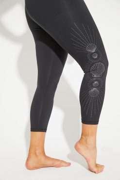 Dharma Bums RECYCLED Foil midi eco Yoga Leggings La Sirena