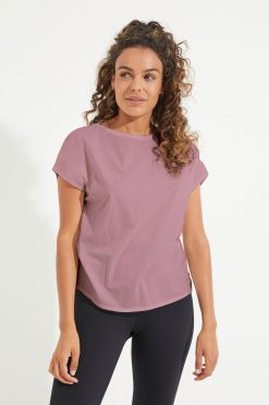 Dharma Bums Relaxed yoga Tee Dusty Mauve