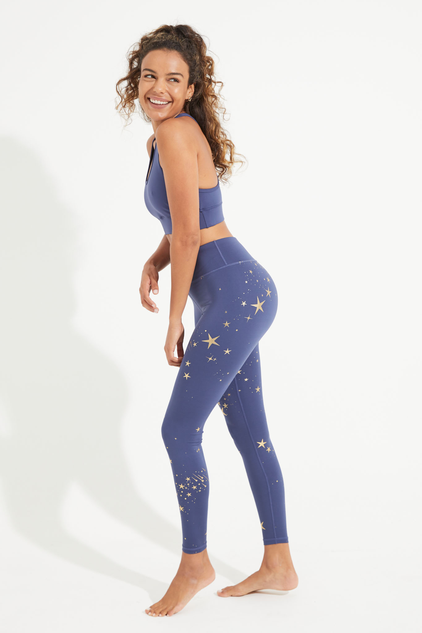 Dharma Bums Stardust RECYCLED eco High Waisted Leggings Stardust indigo