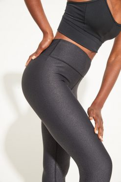 Dharma Bums Twilight Metallic midi Yoga Leggings - Black