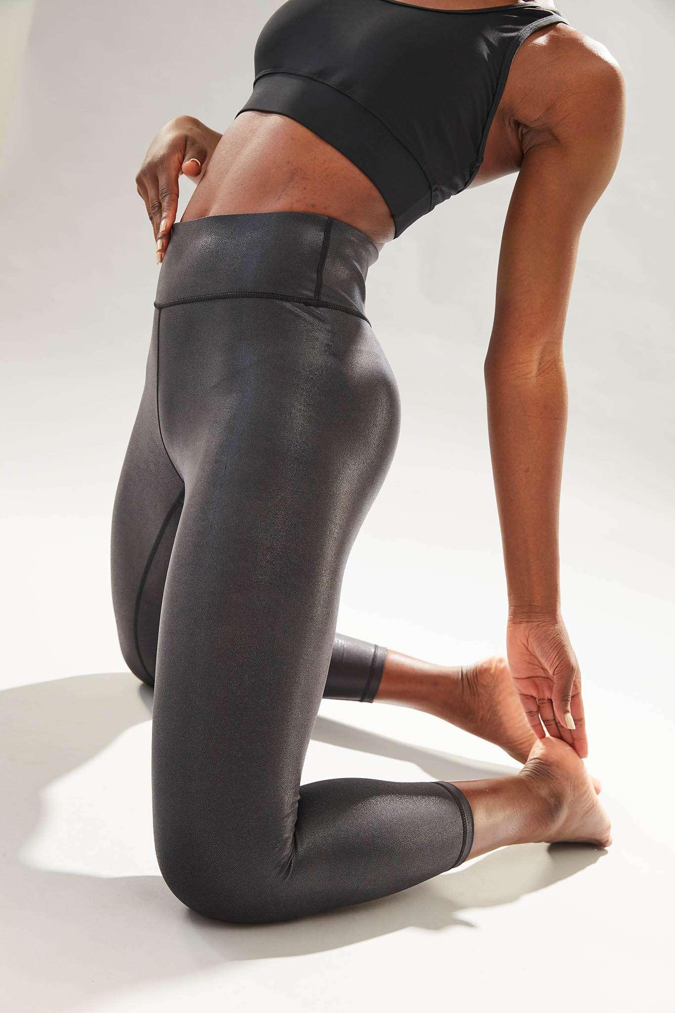 Dharma Bums Twilight Metallic midi Yoga Leggings - Black