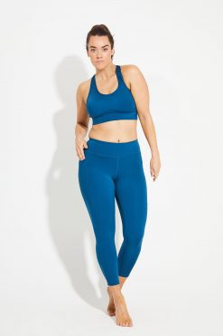 Dharma Bums Wonder Luxe Bondi Pocket midi Yoga Leggings - Emerald blue