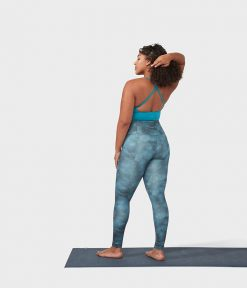 Manduka essence yoga leggings camo tie dye blue