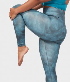Manduka essence yoga leggings camo tie dye blue