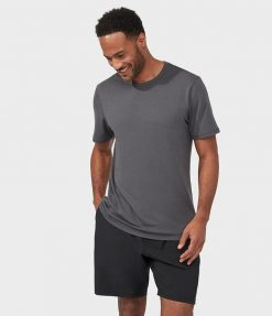Manduka refined yoga tee shirt new grey