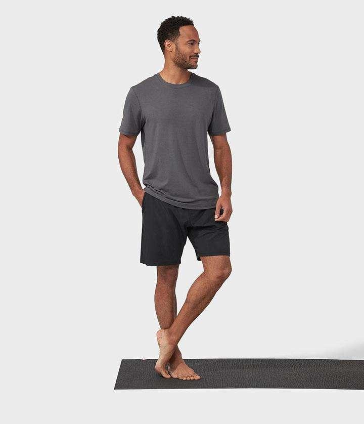 Manduka refined yoga tee shirt new grey