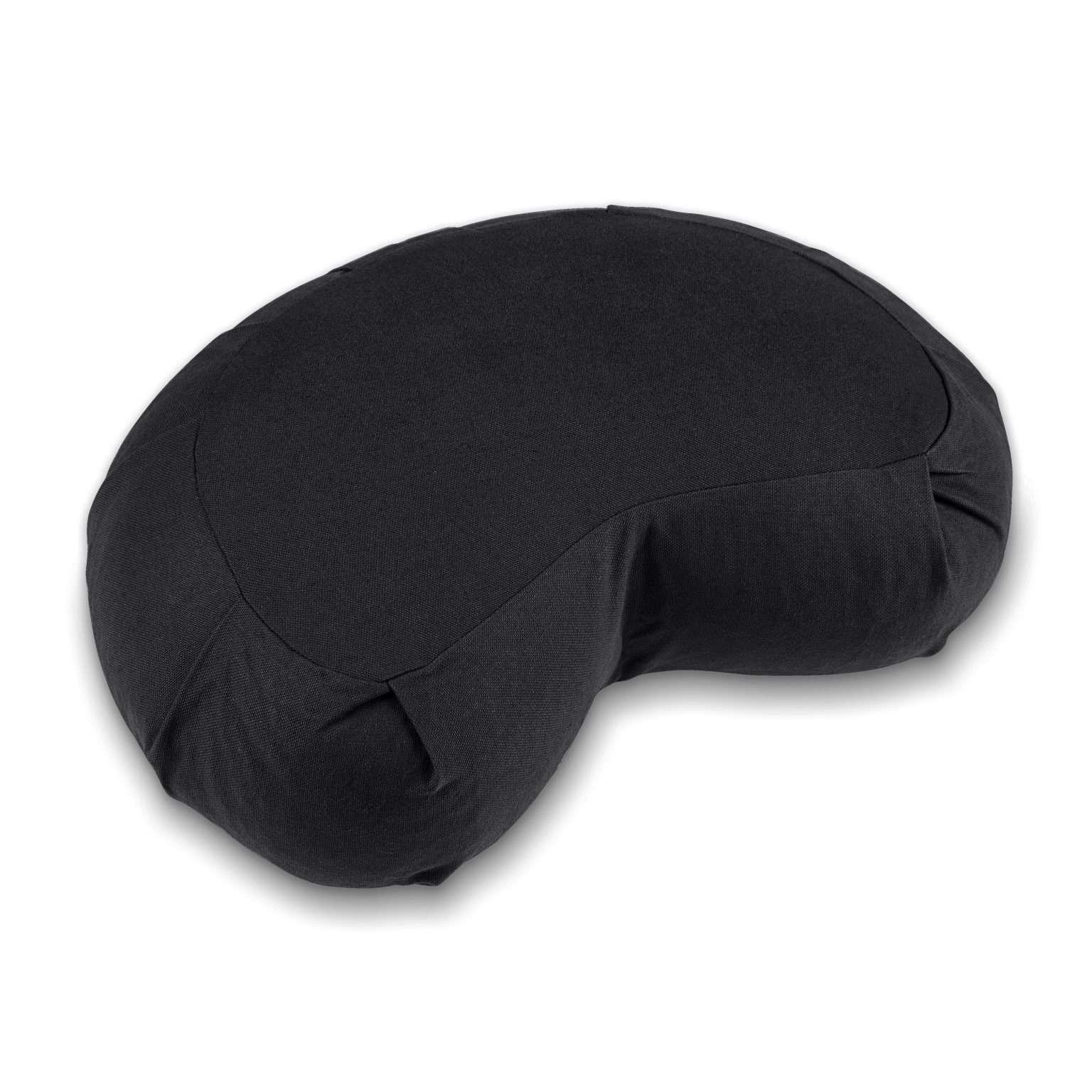 Lotuscrafts Zafu Siddha half crescent meditation cushion jet black