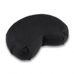 Lotuscrafts Zafu Siddha half crescent meditation cushion jet black