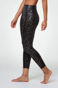 Onzie Midi Leggings Yoga Active Wear Yoga Emporium Foil Regal