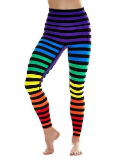 K-Deer sneaker midi leggings stripe