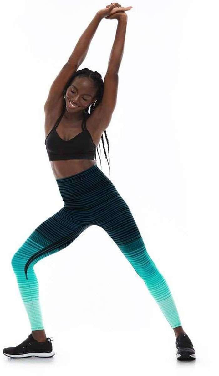 K-Deer Striped Yoga Leggings New To The UK