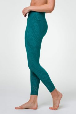 Onzie Midi Leggings Yoga Active Wear Yoga Emporium Selenite Teal