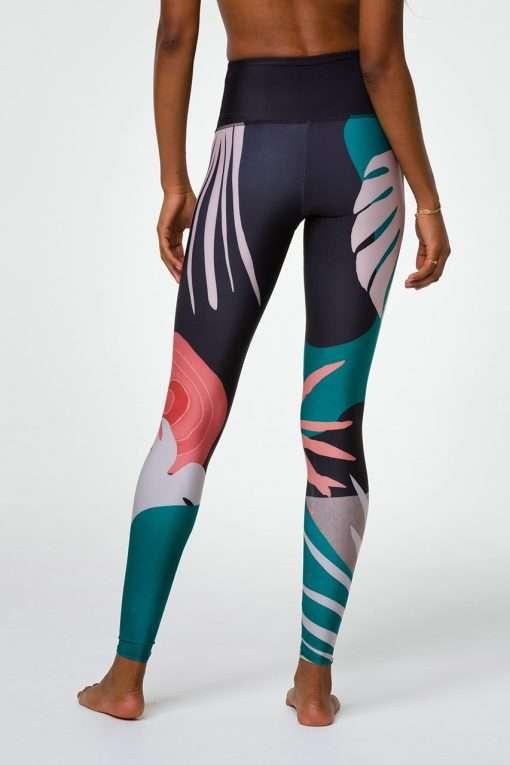 Onzie Full Length Leggings Yoga Active Wear Yoga Emporium Midnight Palm