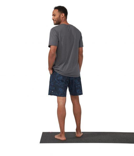 Manduka Agility Yoga Shorts Navy Tie Dye Blue
