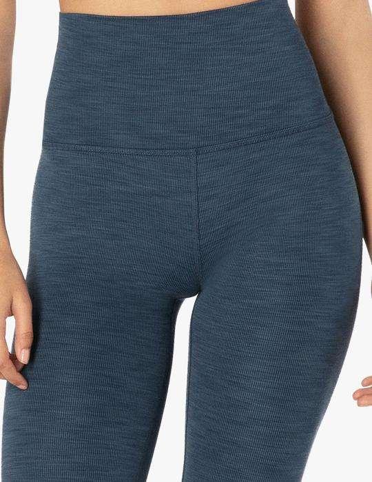 Beyond Yoga Heather Rib Midi Leggings luxury yoga emporium
