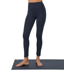 Manduka Presence yoga leggings with pocket dark sapphire