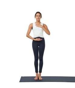 Manduka Presence yoga leggings with pocket dark sapphire
