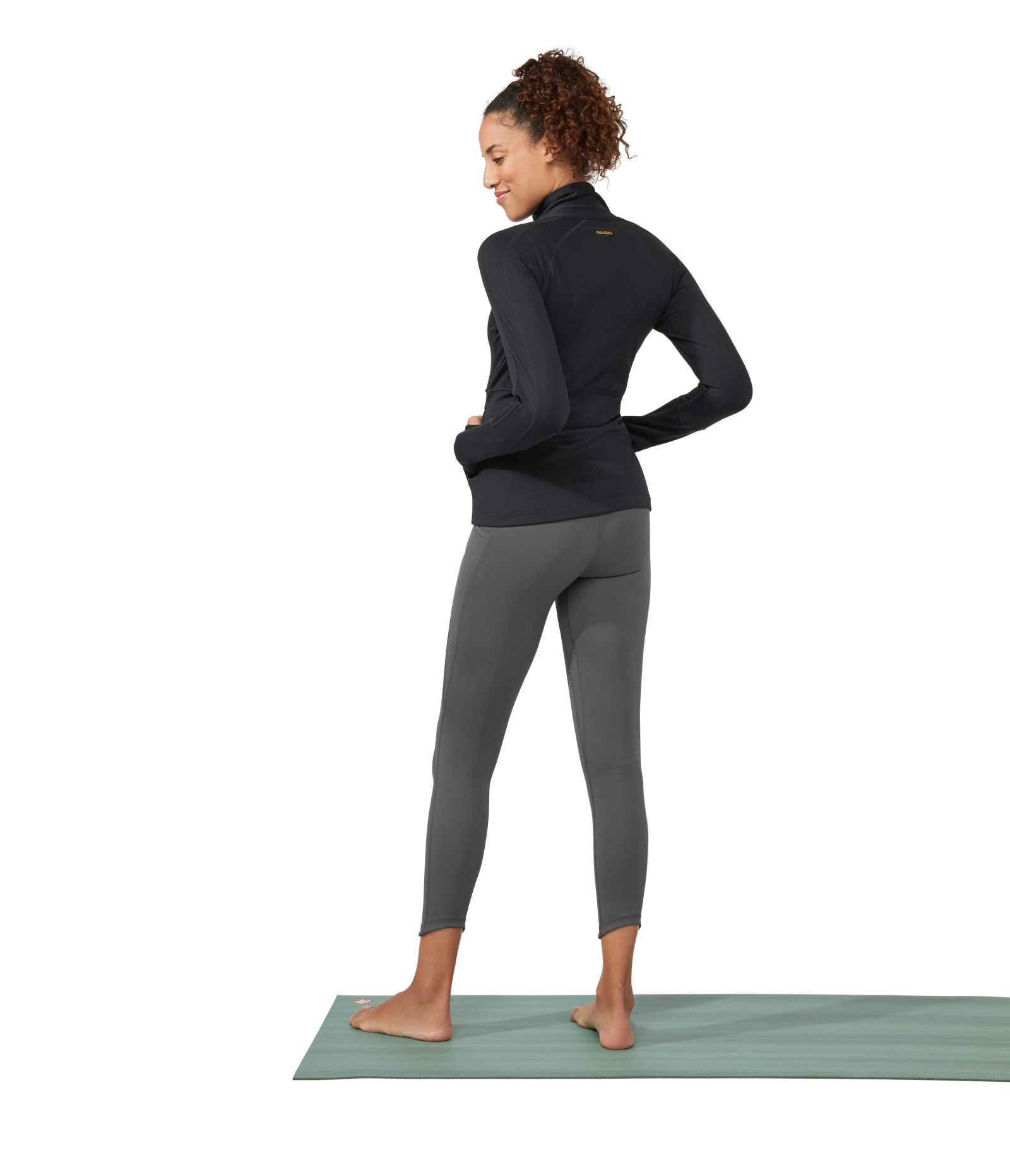 Manduka Presence yoga leggings with pocket new grey