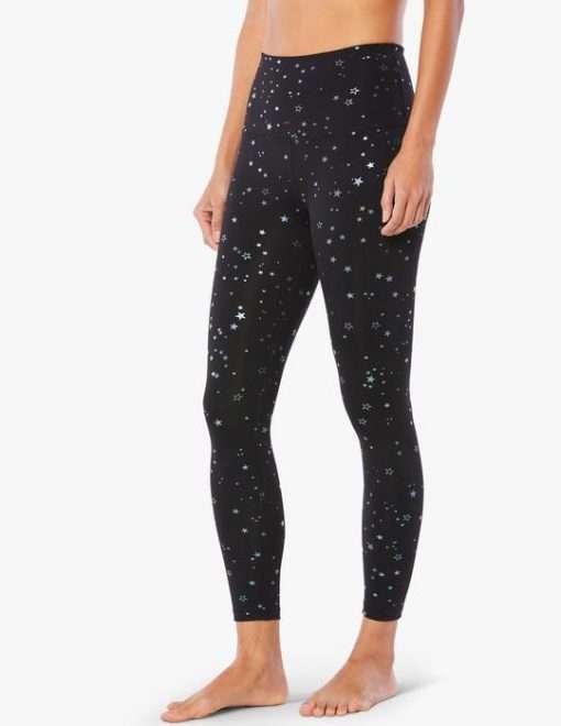 Beyond Yoga Sportflex Stars Glow Midi Leggings luxury yoga emporium