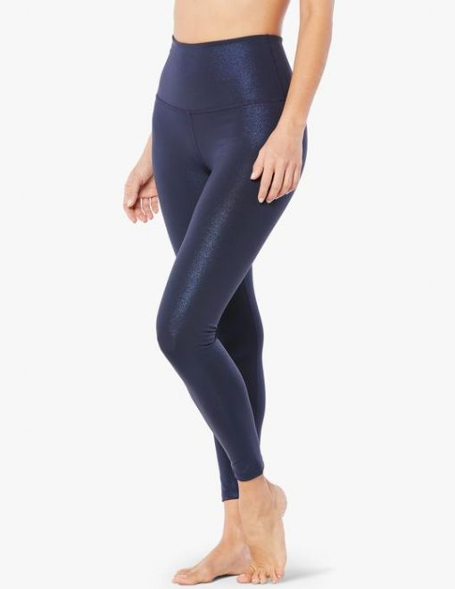 Beyond Yoga Sportflex Glitter Shine Gow Midi Leggings luxury yoga emporium