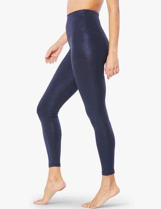 Beyond Yoga Sportflex Glitter Shine Gow Midi Leggings luxury yoga emporium