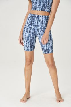 yoga shorts high rise onzie bondi blue