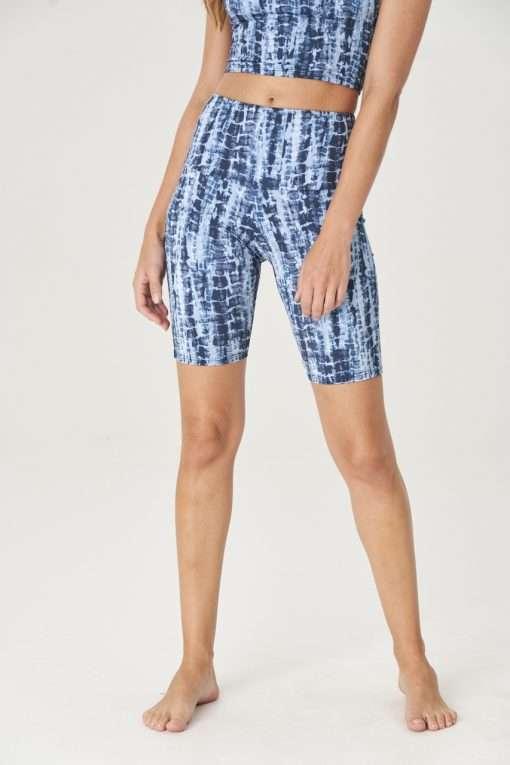 yoga shorts high rise onzie bondi blue
