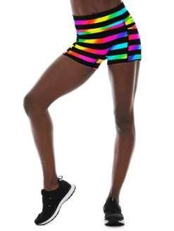 K-Deer Pocket Biker Shorts Yoga Hot Beach Animal Print