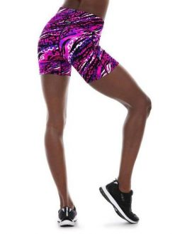 K-Deer Pocket Biker Shorts Yoga Hot Beach Animal Print