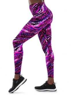 K-Deer Sneaker Midi Legging Animal Pink Print