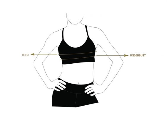 Liquido size chart yoga tops
